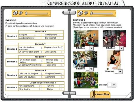 2 Exercices de compréhension orale FLE A1   Tips voor de Franse les   Scoop.it