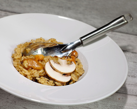 Risotto de l'automne au Champagne, champignons et potimarron - Et si c'était bon...   Chef, à table !   Scoop.it