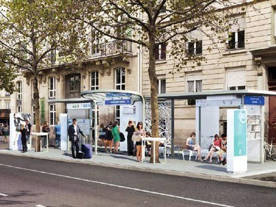 Paris Tests Out Snazzy New 'Bus Stop of the Future' | GiftBasketVillas News - from my home to yours | Scoop.it