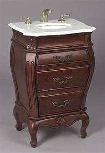 Brown Vanity With White Marble Top, White Sink   Home Decoration   Scoop.it