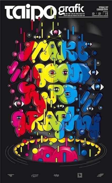 35 affiches à la typographie créative | Publiz - Inspiration graphique et publicité créative | Polices web et règles typographiques | Scoop.it