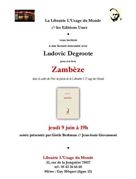 Jeudi 9 juin 2016 :: lecture-rencontre avec Ludovic Degroote (75017 Paris) | TdF  |   Poésie contemporaine | Scoop.it