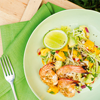 Barbequed prawns with avocado & mango salsa - Fernwood Women's Gyms Australia | GILLS - Seafood & Health | Scoop.it