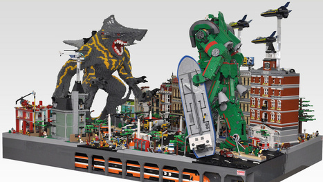 """OMFG! This Lego """"Pacific Rim"""" Kaiju Attack is Amazing!   All Geeks   Scoop.it"""