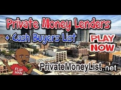 40,000 Cash Buyer's List | 400 Private Money Lender's List | Real Estate Investing | FlipMan.net | thehomesport | Scoop.it