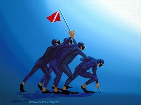 COMMON VIRTUE FOR IWO JIMA -  oil on canvas by PascaSome more works by pascal lecocq, uploaded by other members - Other people who shared works by pascal lecocq - Pictify - your social art network | Art by Pascal, The painter of Blue® | Scoop.it