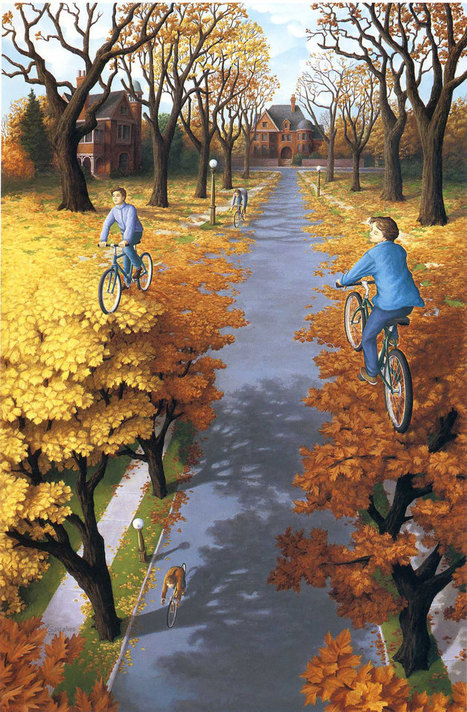 25 Mind-Twisting Optical Illusion Paintings By Rob Gonsalves | Interesting things :) | Scoop.it