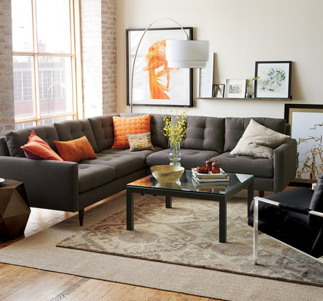 11 Reasons to Love a Gray Sofa   Designing Interiors   Scoop.it