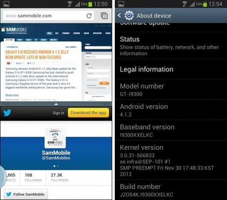 Samsung said to be pushing Android 4.1.2 to some Galaxy S III owners, multi-window included | Daily Magazine | Scoop.it