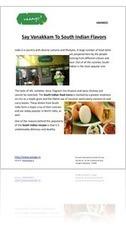 Say Vanakkam To South Indian Flavors | Restaurants | Scoop.it