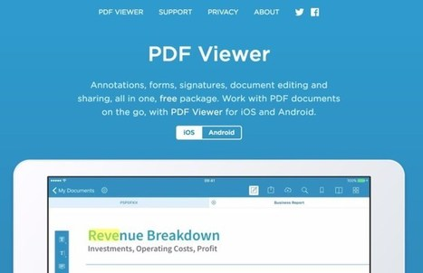PDF Viewer. Travaillez les Pdf sur votre tablette – Les Outils Tice | Les outils du Web 2.0 | Scoop.it