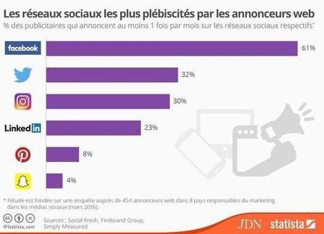 Facebook, réseau social le plus utilisé par les annonceurs | Digital News in France | Scoop.it