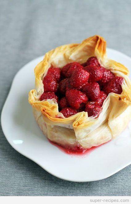 Brie Phyllo Torte with Fresh Raspberries | Recipes | Scoop.it
