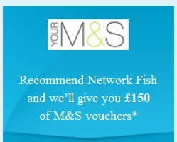 Recommend Network fish and M&S vouchers | IT support Services | Scoop.it