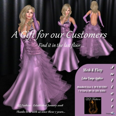Juliette Fuchsia Dress Group Gift by QQ Fashion | Teleport Hub - Second Life Freebies | Second Life Freebies | Scoop.it