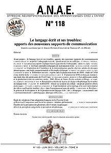 ANAE N° 118 - Le Langage écrit et ses troubles : apports des nouveaux supports de communication | E-apprentissage | Scoop.it