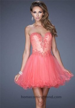 2014 Hot Coral Mesh V Neck Lace Short Homecoming Dresses [short homecoming dresses 2014] - $158.00 : Customized prom dresses,homecoming dresses,wedding dresses,Save up to 65% | prom dresses 2014 | Scoop.it