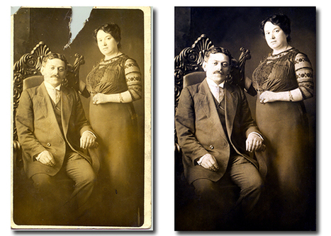 How to Restore Old, Damaged Photos | Recording and Archiving Family History | Scoop.it