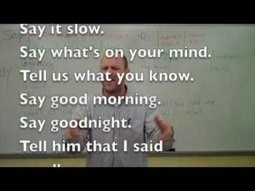 English ESL Say and Tell Verb Grammar Rap Song ColloClass Lesson 7 with Fluency MC! | Videos Ingles | No one left behind | Scoop.it