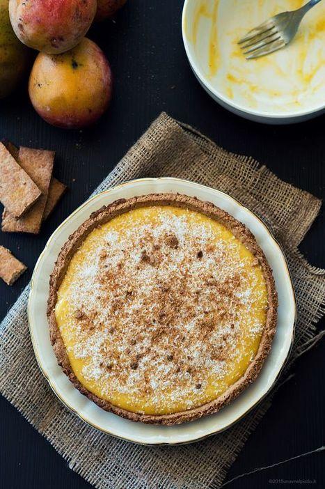 Crostata al cocco senza zucchero con crema al mango - Una V nel piatto - Ricette Vegane e Mondo Vegan   Una V nel Piatto   Scoop.it
