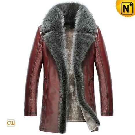 CWMALLS® Mens Fur Leather Jackets CW852556 | Fur Lined Mens Coat | Scoop.it