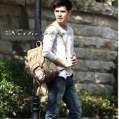 Suede and canvas school backpack mens | personalized canvas messenger bags and backpack | Scoop.it