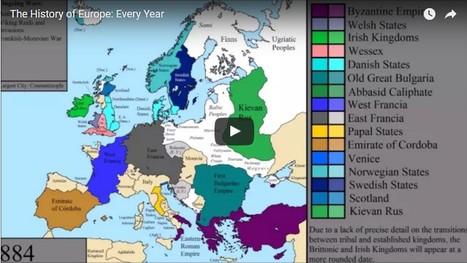Carte interactive de l'histoire de l'Europe   Pour la classe d'histoire-géographie   Scoop.it