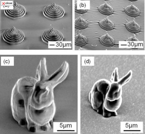 Charred micro-bunny sculpture shows promise of new 3-D shaping material   Amazing Science   Scoop.it