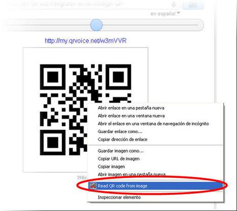 Lector de códigos QR para Chrome: QRreader [Extensión] | Una ... | VIM | Scoop.it