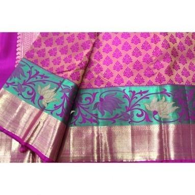 Buy Pure Pink Kanchipuram Silk Saree for Wedding : Madhurya   Kurtis, Sarees, Jewellery   Scoop.it