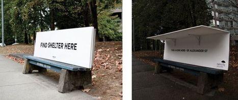 Au Canada, des bancs ingénieux conçus pour les SDF   Malle aux trésors   Scoop.it