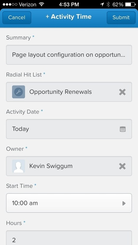 Radial Web   Salesforce1 Publisher Actions…in Action   salesforce   Scoop.it