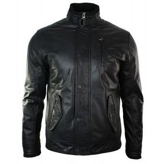 Mens Black Washed Crinkle Distressed Black Retro Real Leather Short Jacket | Mens clothing | Scoop.it