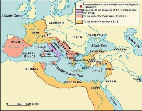 A Map of the Roman Republic | ancient world civilization | Scoop.it