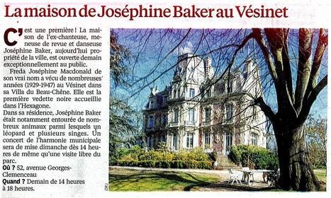 Maison de Joséphine Baker ouverte aux jounées du patrimoine | Croissy sur Seine | Scoop.it
