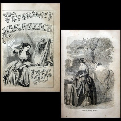 1856 PETERSON'S MAGAZINE Full Year Bound, Ladies' Color Fashion Engravings, Cornucopia of Victoriana, Re-Bound in Full Leather (Auction ID: 222734, End Time : Sep. 15, 2012 23:00:00) - MYNOTERA ONL... | Antiquarian Books | Scoop.it