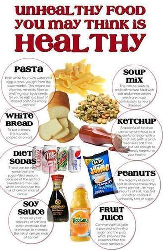UNHEALTHY FOODS! Don't think is Healthy | Healthy Juices | Scoop.it
