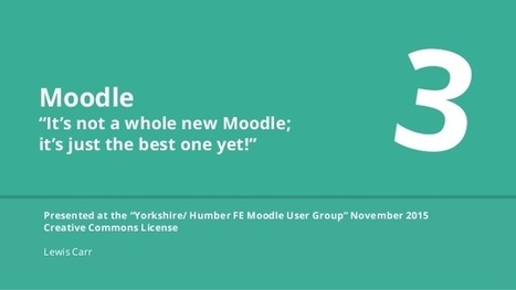 #Moodle 3 Updates | Moodle and Web 2.0 | Scoop.it