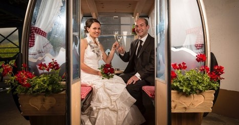 "Wedding Gondola ""To Seventh Heaven"" from Gstaad 