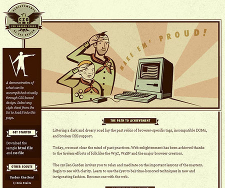 35 Best Retro Style Website Designs   Dzinepress   Content strategy and UX   Scoop.it