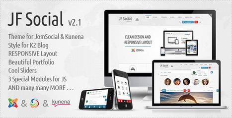 Download JF Social - Joomla JomSocial Kunena Template Latest Version - Template1st.com | Free Themes Premium | Scoop.it