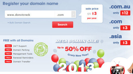 [Discount] Crazydomains domain name | Only $3 accept Paypal | Free license for you | Godaddy coupon code | Scoop.it