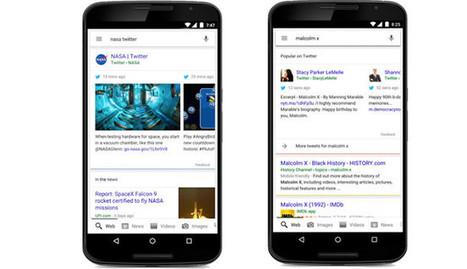 Google incluirá tweets en los resultados de las búsquedas desde dispositivos móviles | #Biblioteca, educación y nuevas tecnologías | Scoop.it
