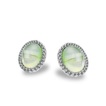 925 Sterling Silver Natural Prehnite Earrings | Women's Earrings | Scoop.it