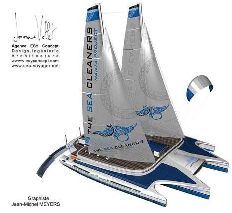 Utile: un navigateur invente le voilier dépollueur des océans - Pepsnews - L'actu positive | De l'économie verte à l'économie bleue | Scoop.it