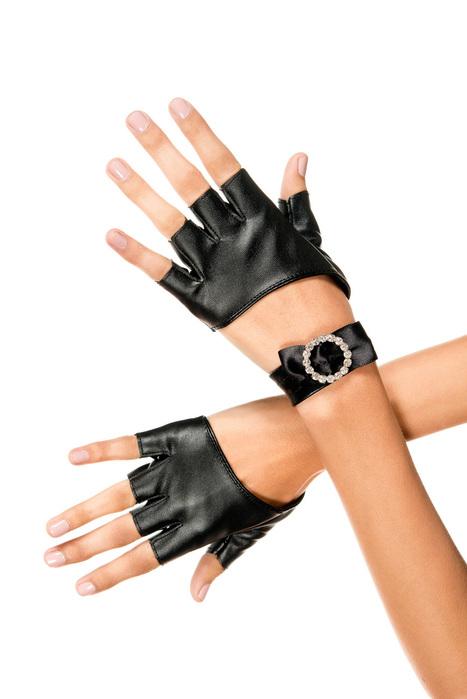 Metallic fingerless gloves - LegsAppeal.com | Metallic fingerless gloves | Scoop.it