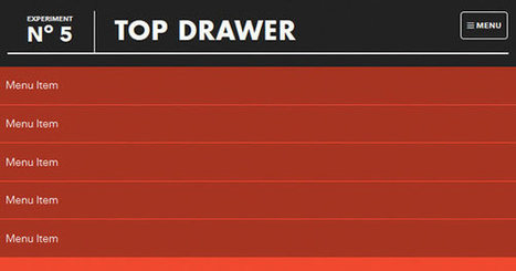 Top Drawer - A smooth dropdown menu for responsive web design   Responsive design & mobile first   Scoop.it