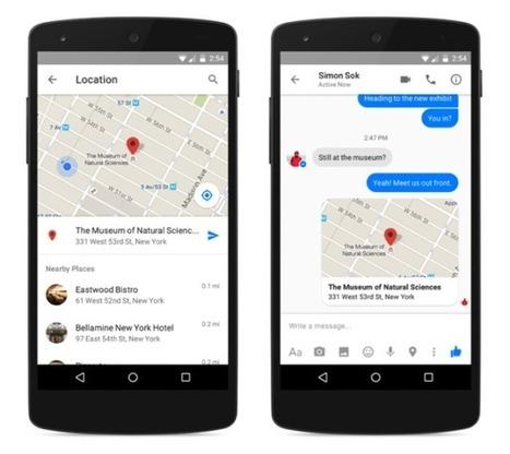 Intéressant pour le tourisme ! Facebook Messenger : le partage de la localisation va s'améliorer. | Animer une communauté Facebook | Scoop.it