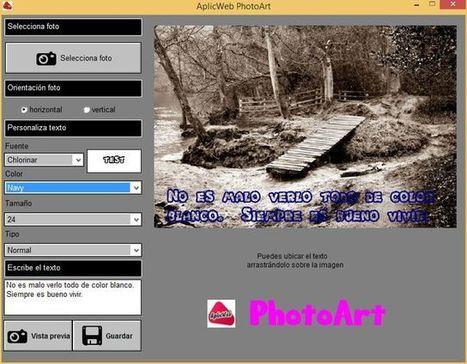 AplicWeb PhotoArt: software para poner bellos textos en las fotos | Aplicaciones y Herramientas . Software de Diseño | Scoop.it