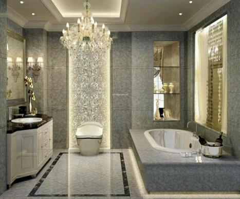 Bath decorating idea: Add a chandelier to your bath | Erika Johnson | Scoop.it